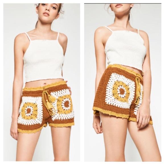 8240b536 Zara Shorts | Nwt Boho Crochet Size Medium | Poshmark